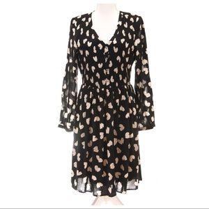 ANTHROPOLOGIE Butterfly Black Dress